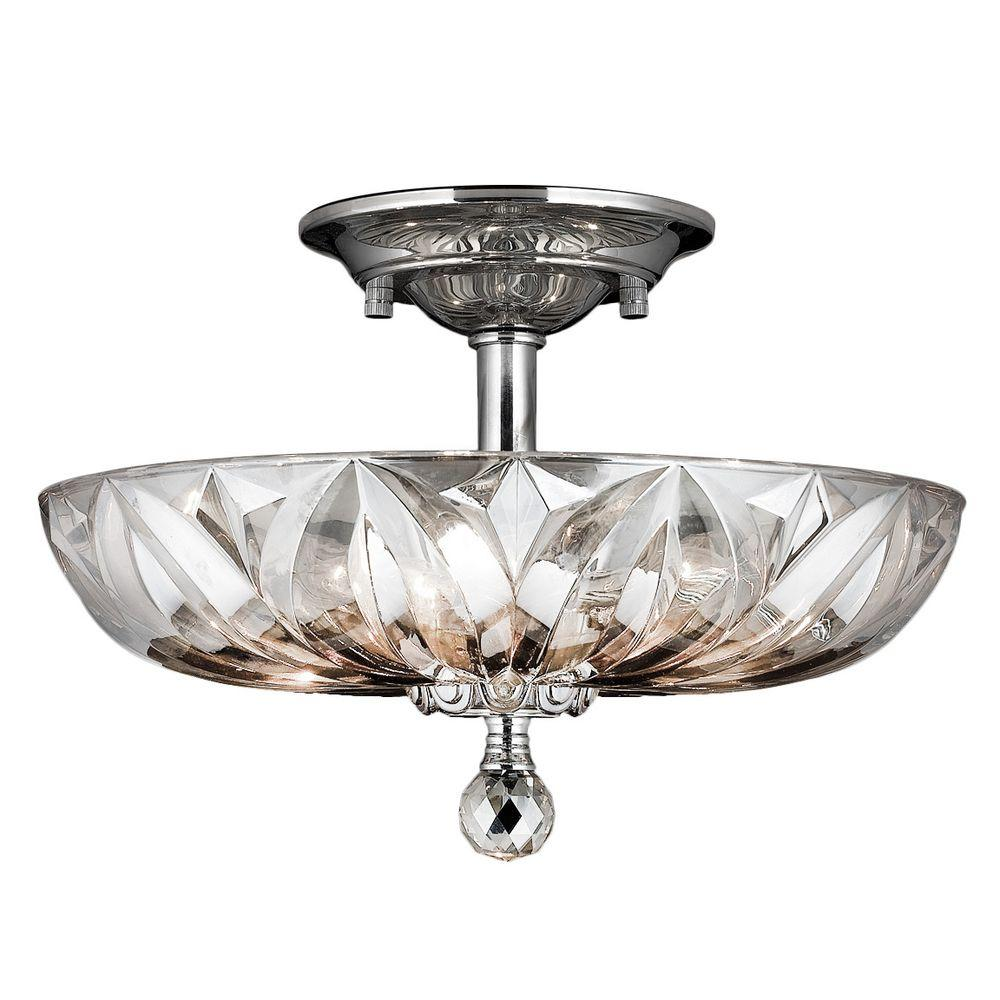 Worldwide lighting mansfield collection 4 light chrome and clear worldwide lighting mansfield collection 4 light chrome and clear crystal ceiling semi flush mount light w33142c16 cl the home depot aloadofball Gallery