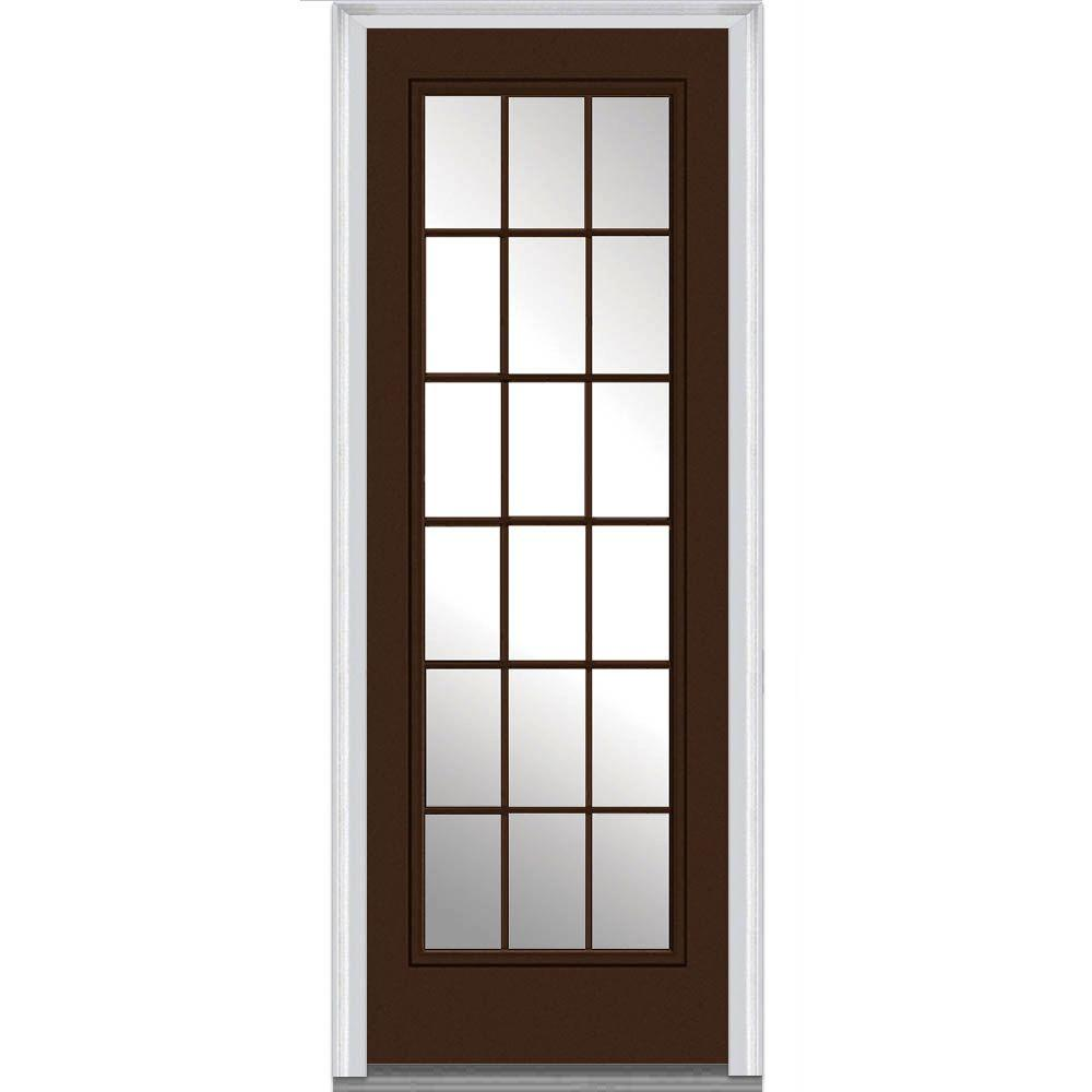 Mmi door 36 in x 96 in clear glass left hand 18 lite for 18 door