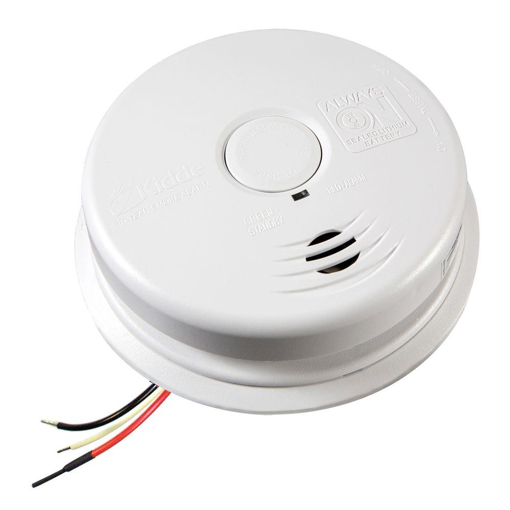 kidde hardwired interconnectable smoke alarm with 10 year. Black Bedroom Furniture Sets. Home Design Ideas