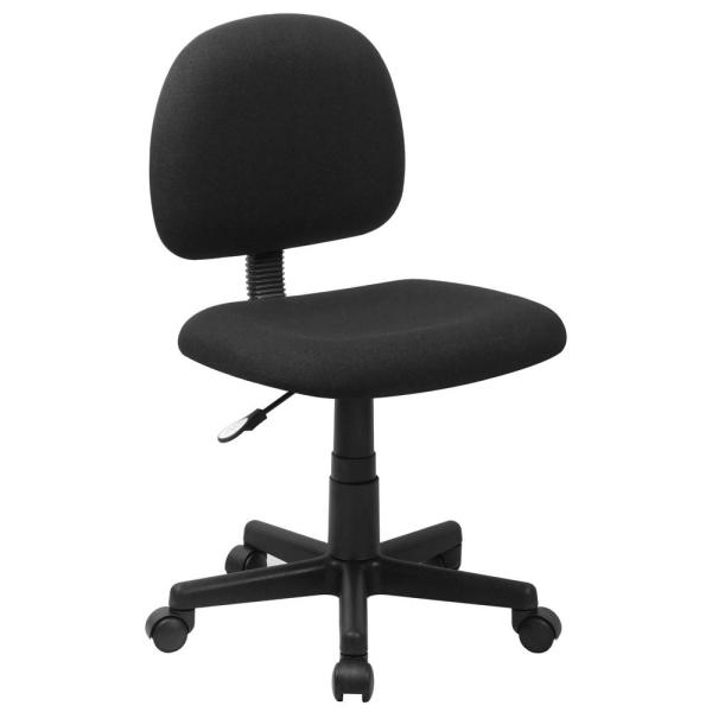 Flash Furniture Low Back Ergonomic Black Fabric Swivel Task Chair BT660BLK