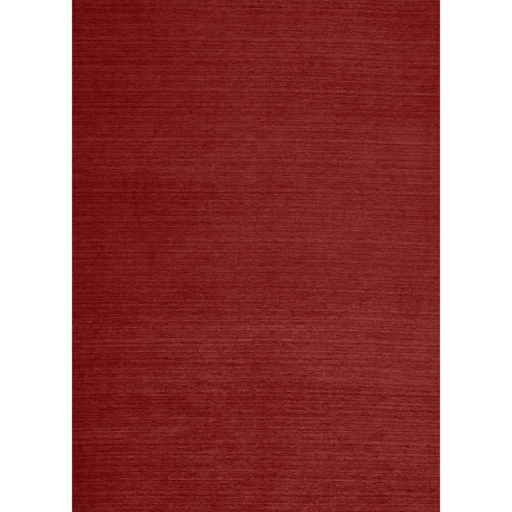 Ruggable Washable Solid Red 5 Ft X 7 Ft Stain Resistant