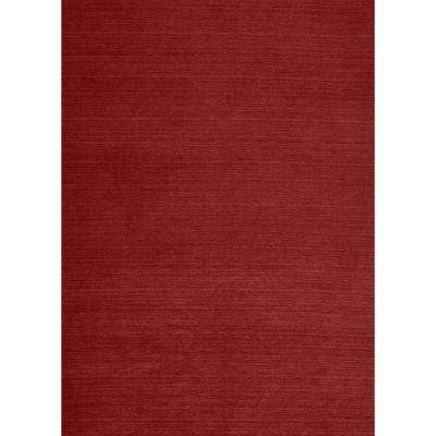 Washable Solid Red 5 ft. x 7 ft. Stain Resistant Area Rug