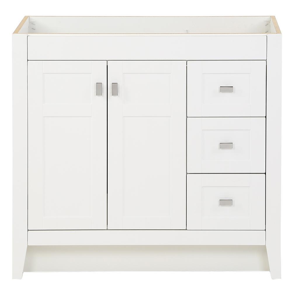 Bladen 36 in. W x 18.54 in. D x 34.25 in. Bath Vanity Cabinet Only in White