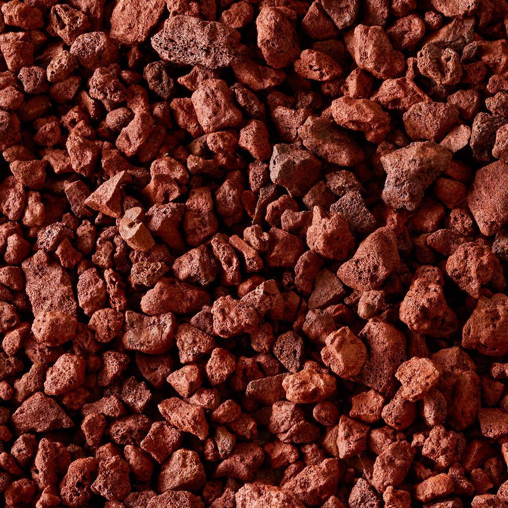 Vigoro 0 5 Cu Ft Bagged Decorative Stone Red Lava Rock