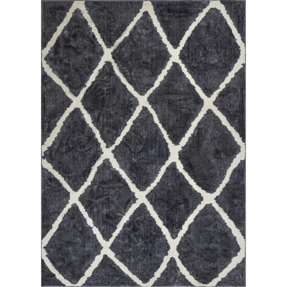 Well Woven Kasper Walton 7 Ft 10 In X 9 Modern Moroccan Trellis Grey Area Rug