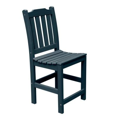 Lehigh Federal Blue Counter Plastic Outdoor Dining Chair