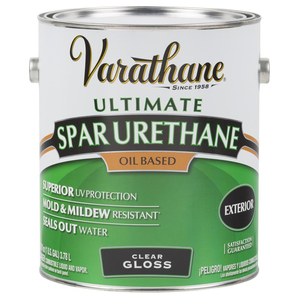 1 gal. Clear Gloss Oil-Based Exterior Spar Urethane (2-Pack)