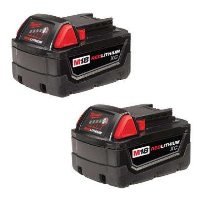 M18 18-Volt Lithium-Ion XC Extended Capacity Battery Pack 3.0Ah (2-Pack)
