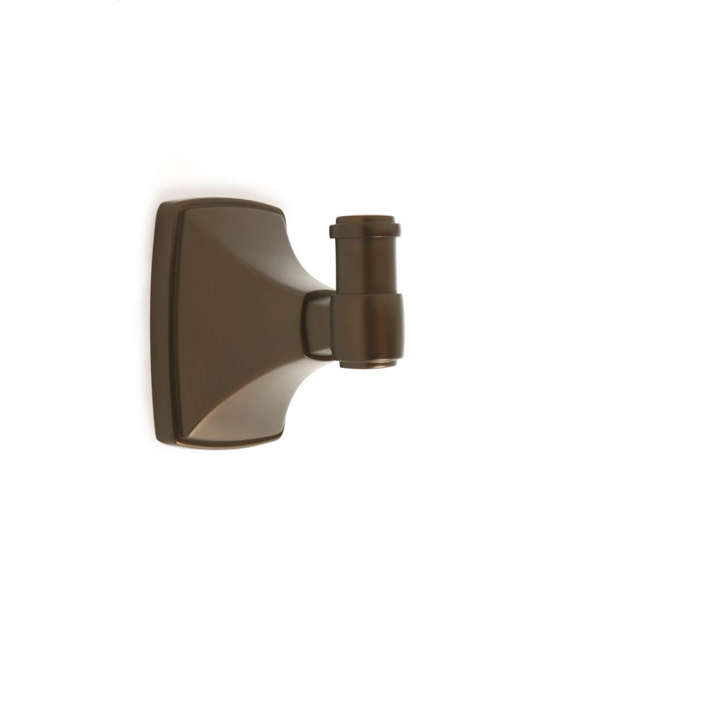 Clarendon Wall Mount Single Robe Hook in Caramel Bronze