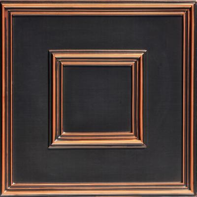 Town Square 2 ft. x 2 ft. PVC Glue-up or Lay-in Ceiling Tile in Antique Copper