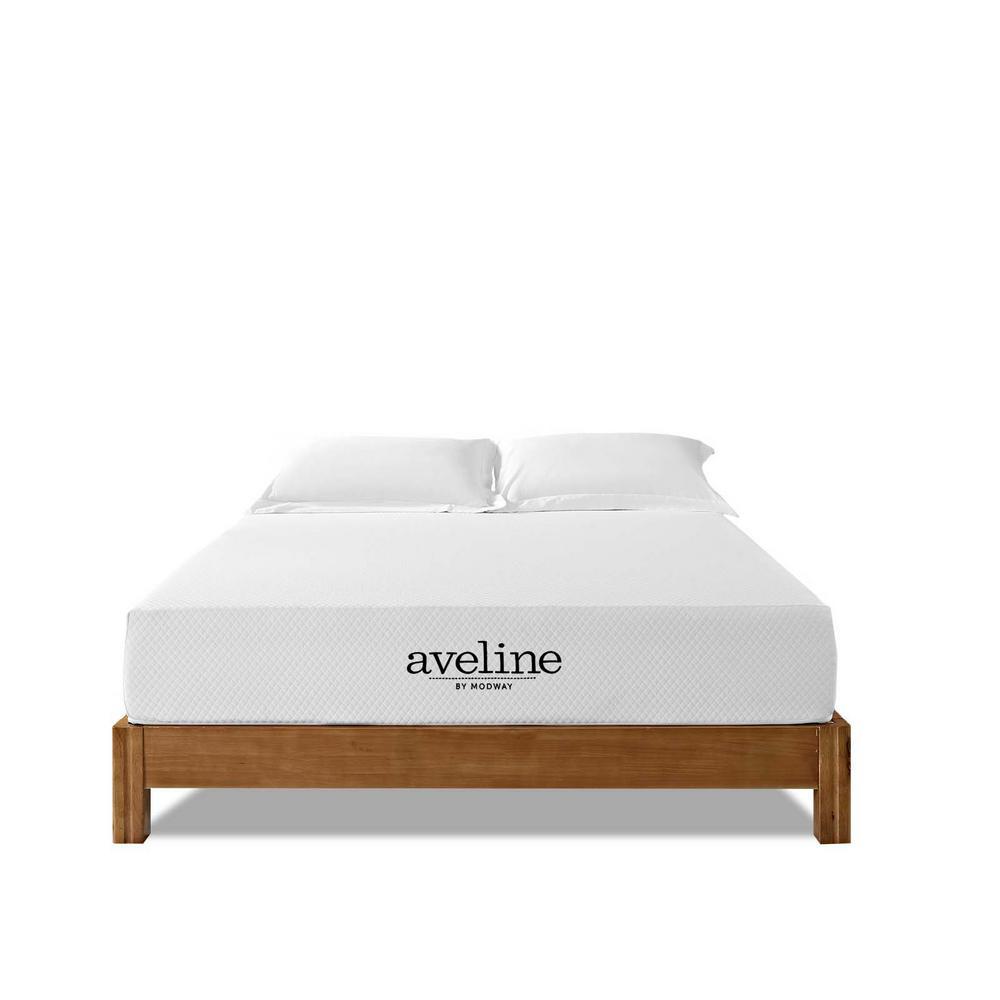 Aveline 10 in. Queen Mattress in White