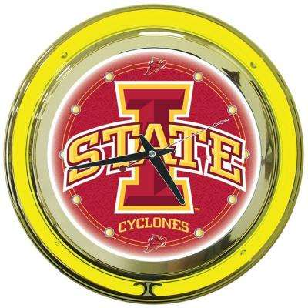 14 in. Iowa State University Neon Wall Clock