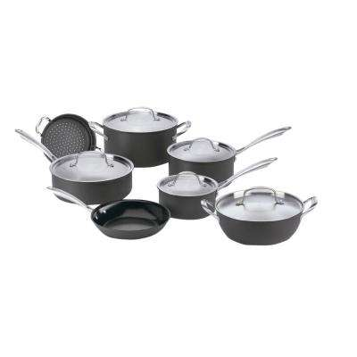 GreenGourmet 12-Piece Black Cookware Set with Lids