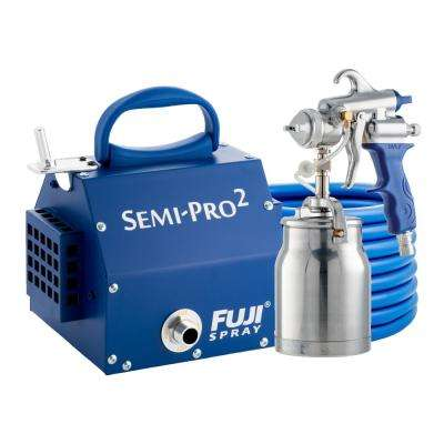 Semi-PRO 2 - M-Model Spray Gun with Bottom Feed 1 qt. Cup 1.3 mm Air Cap Set HVLP Spray System