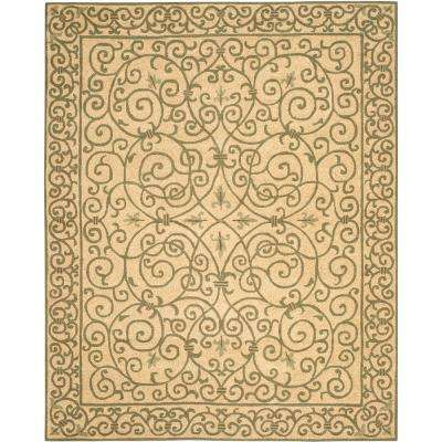 Chelsea Yellow/Light Green 8 ft. x 10 ft. Area Rug