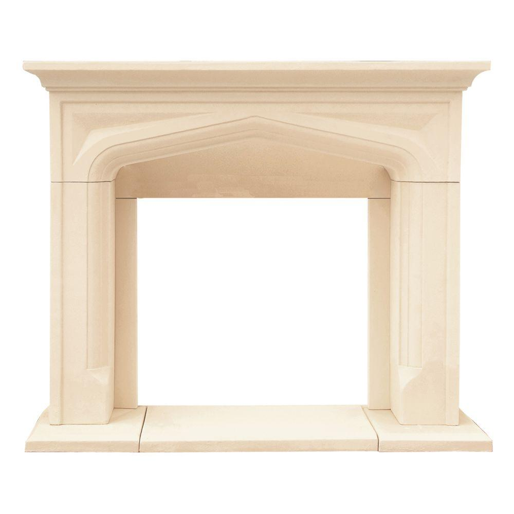 Historic Mantels Chateau Series Pisa 48 in. x 62 in. Cast Stone Mantel