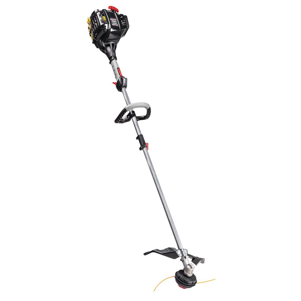 Troy-Bilt 32 cc 4-Cycle Straight Shaft Attachment Capable Gas Trimmer with  JumpStart Capabilities