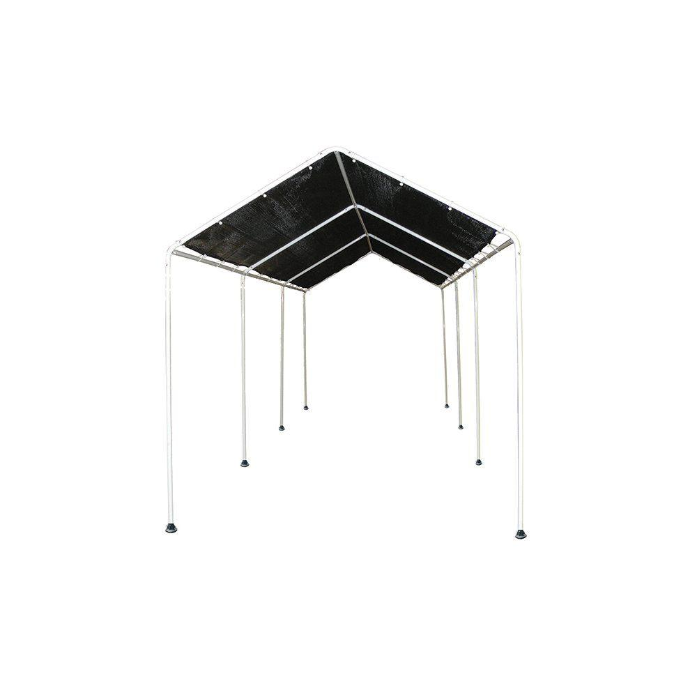 ShelterLogic 8 ft. x 20 ft. Shade Canopy with 8 Leg Frame in Black ...