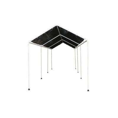8 ft. x 20 ft. Shade Canopy with 8 Leg Frame in Black Polyethylene Mesh Cover