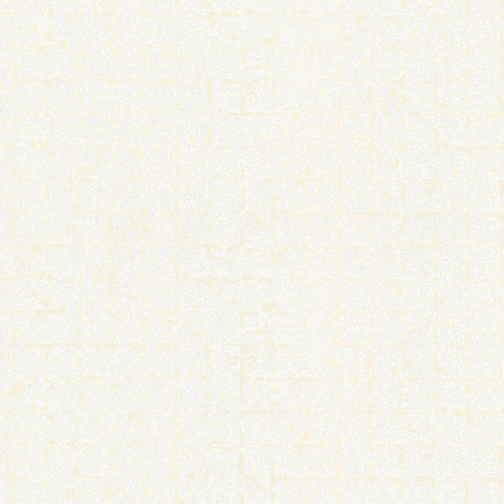 56.4 sq. ft. Stargazer Off-White Glitter Squares Wallpaper