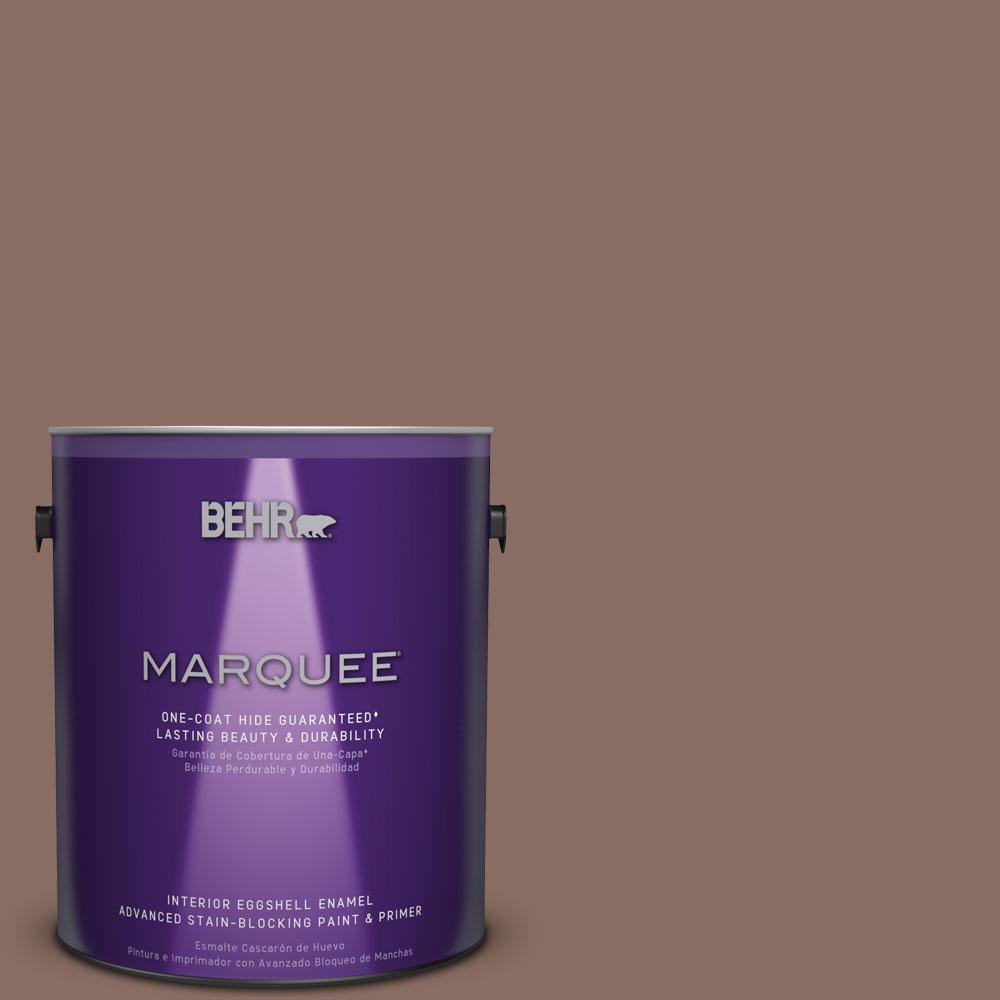 1 gal. #N150-5 French Truffle One-Coat Hide Eggshell Enamel Interior Paint