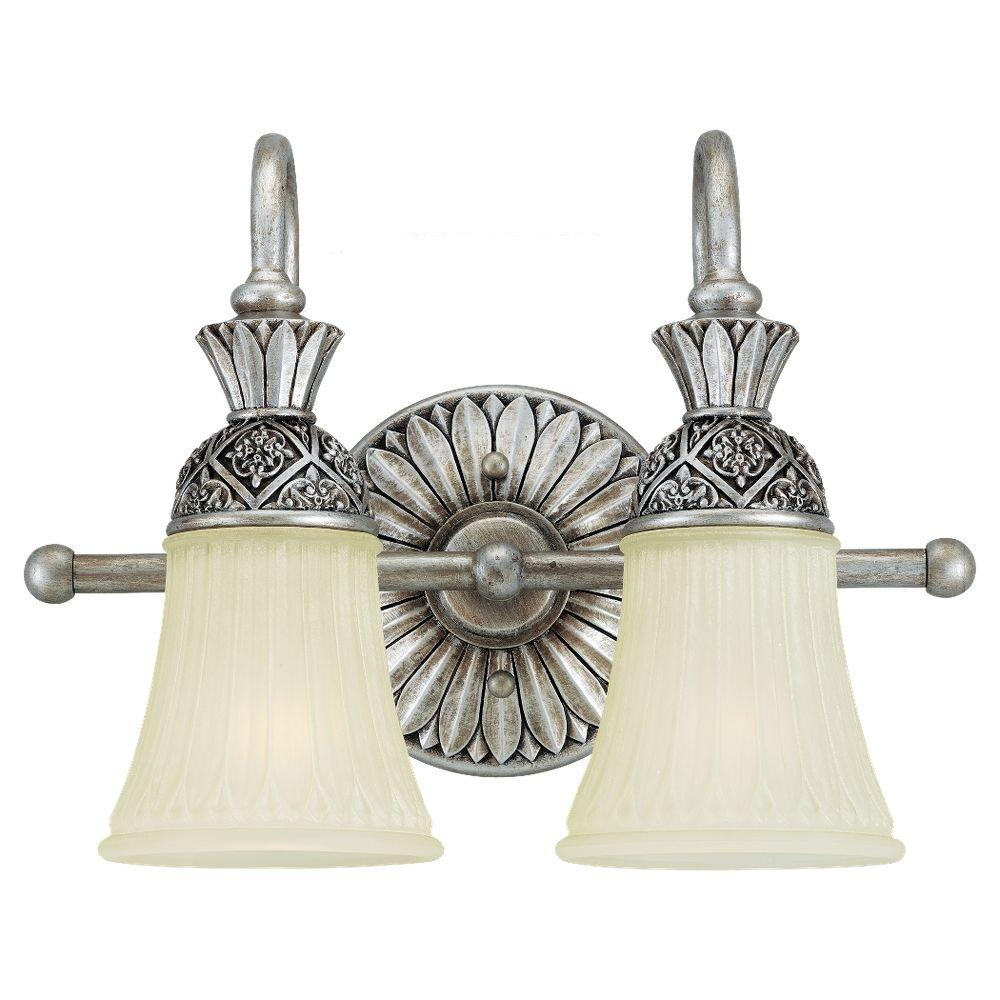 Sea Gull Lighting Highlands 2-Light Palladium Vanity Fixture
