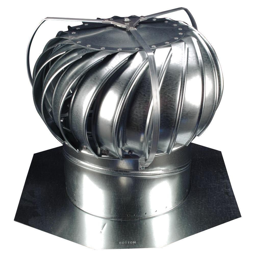 12 in. Mill Finish Galvanized Steel Externally Braced Wind Turbine