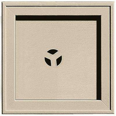 7.75 in. x 7.75 in. #049 Almond Recessed Square Mounting Block