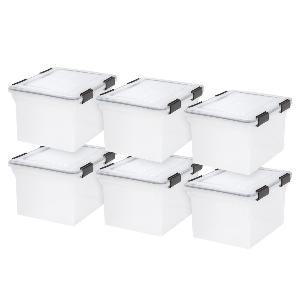 32-Qt. Weathertight Storage Box in Clear (6-Pack)