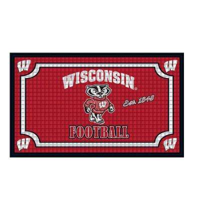 University of Wisconsin-Madison 18 in. x 30 in. Embossed Welcome Mat