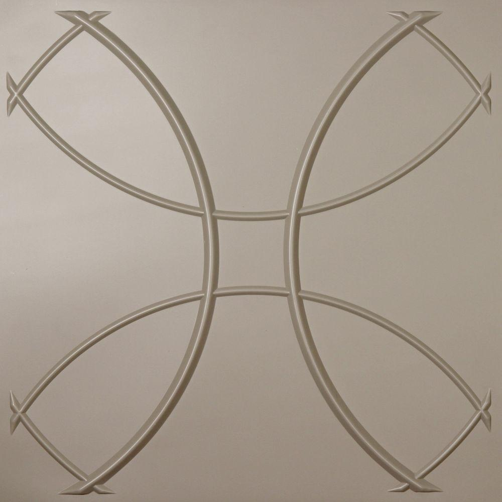 Ceilume Celestial Latte Evaluation Sample, Not suitable for installation - 2 ft. x 2 ft. Lay-in or Glue-up Ceiling Panel