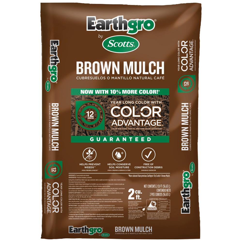 Earthgro 2 cu. ft. Brown Mulch