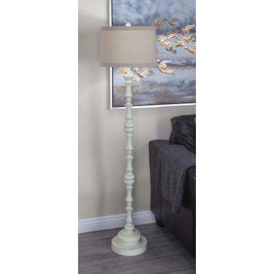 61 in. Classic Polystone Baluster Floor Lamp
