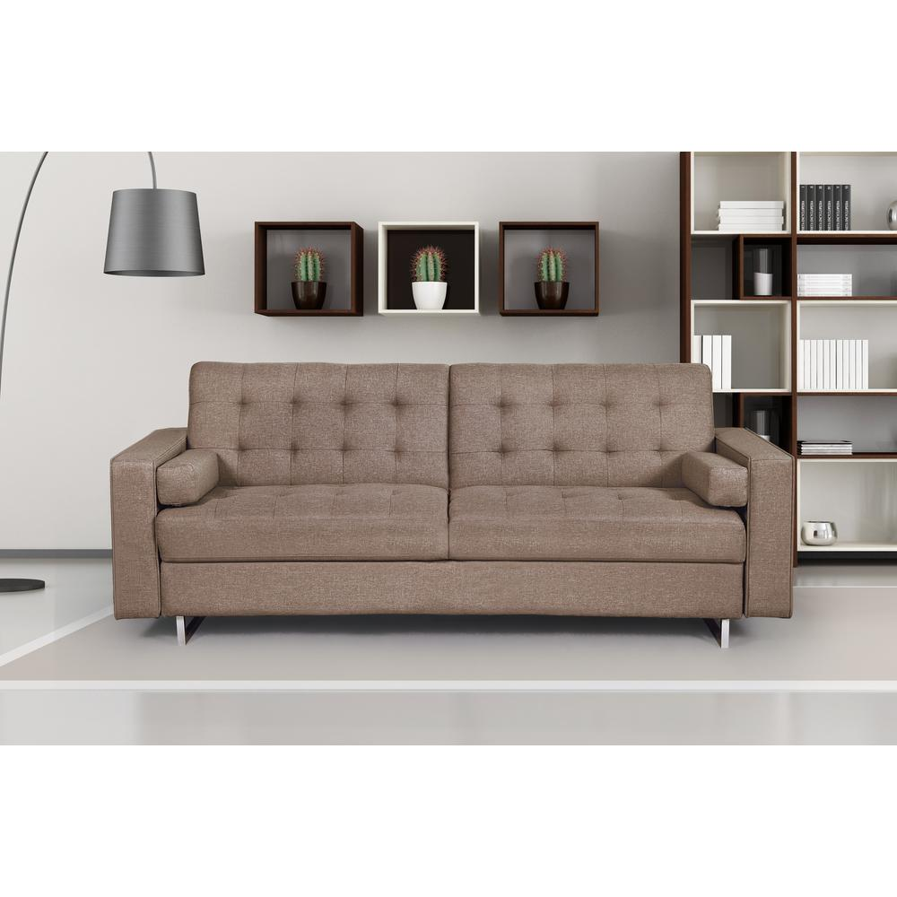jared brown linen sofa s5152 the home depot. Black Bedroom Furniture Sets. Home Design Ideas