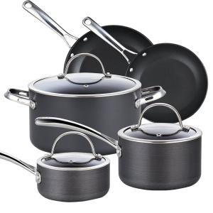 Cooks Standard 8-Piece Black Cookware Set with Lids by Cooks Standard