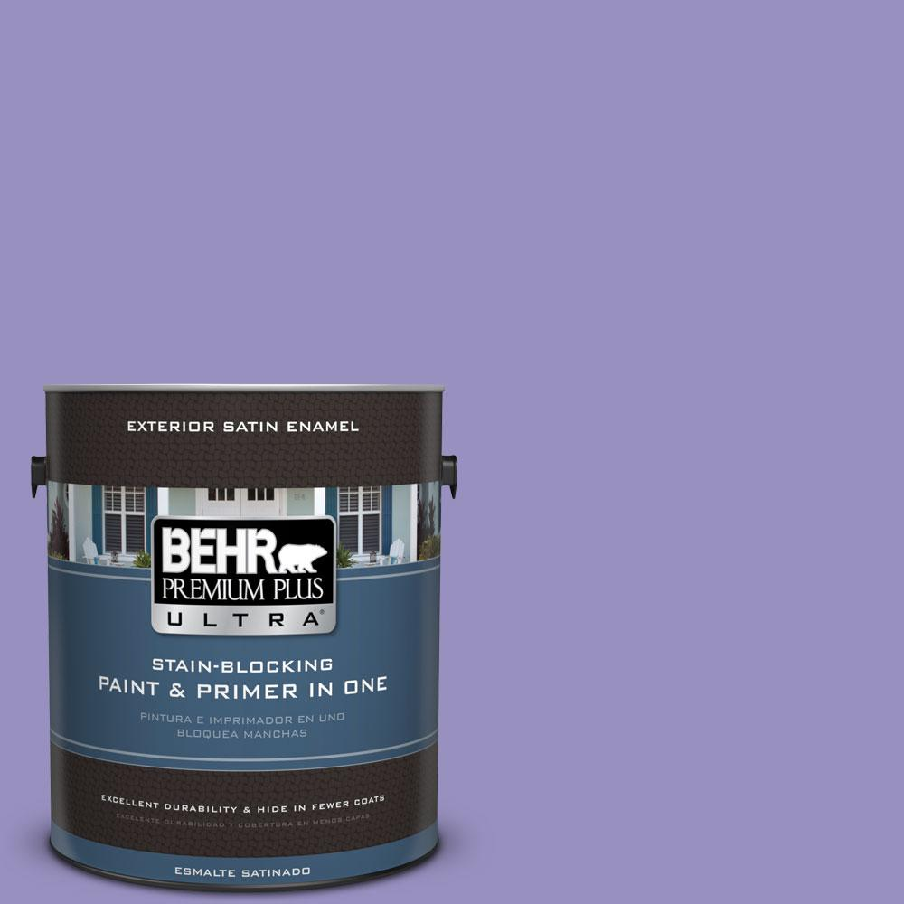 BEHR Premium Plus Ultra 1-gal. #PPU16-5 Lily of the Nile Satin Enamel Exterior Paint