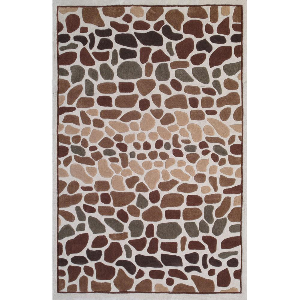 Momeni Ibiza Collection Beige 5 ft. x 7 ft. 6 in. Indoor Area Rug
