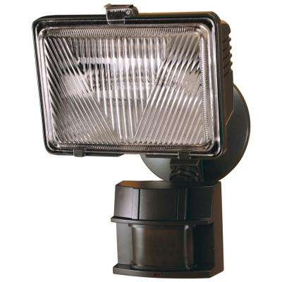 250-Watt 180-Degree Bronze Motion Activated Outdoor Flood Light