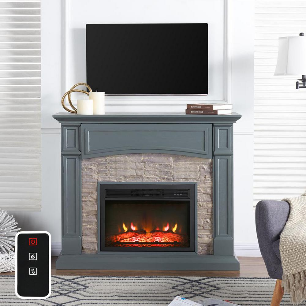 Electric Fireplace In Black Fd19455