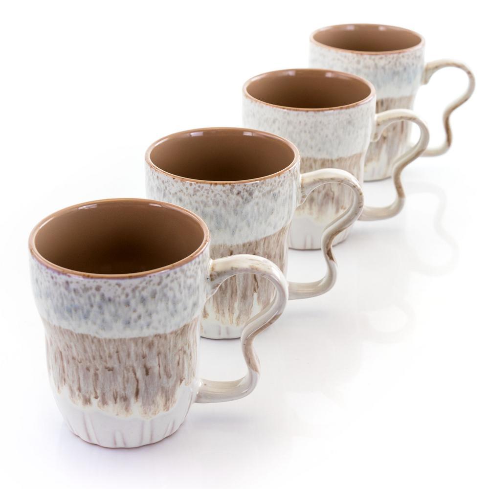 18 oz. Brown Stoneware Mug (Set of 4)