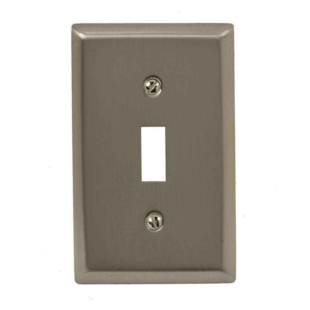 Madison 1 Toggle Wall Plate - Satin Nickel