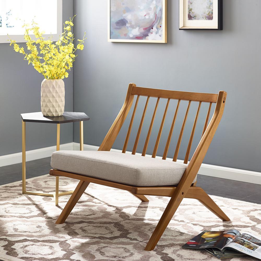 Merran Dark Sienna Armless Accent Chair