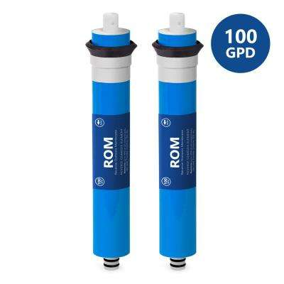 100 GPD Reverse Osmosis Membrane - Universally Compatible Replacement RO (2-Pack)