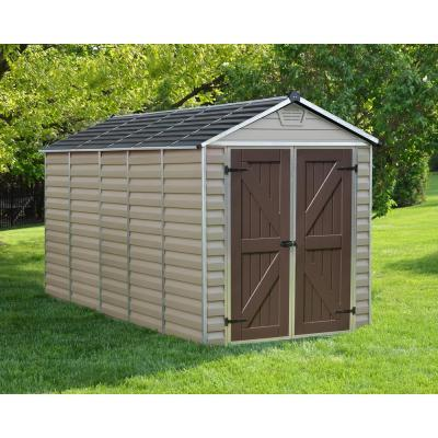 SkyLight 6 ft. x 12 ft. Tan Storage Shed