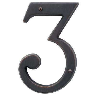 4.75 in. Flush Mount Venetian Bronze Number 3
