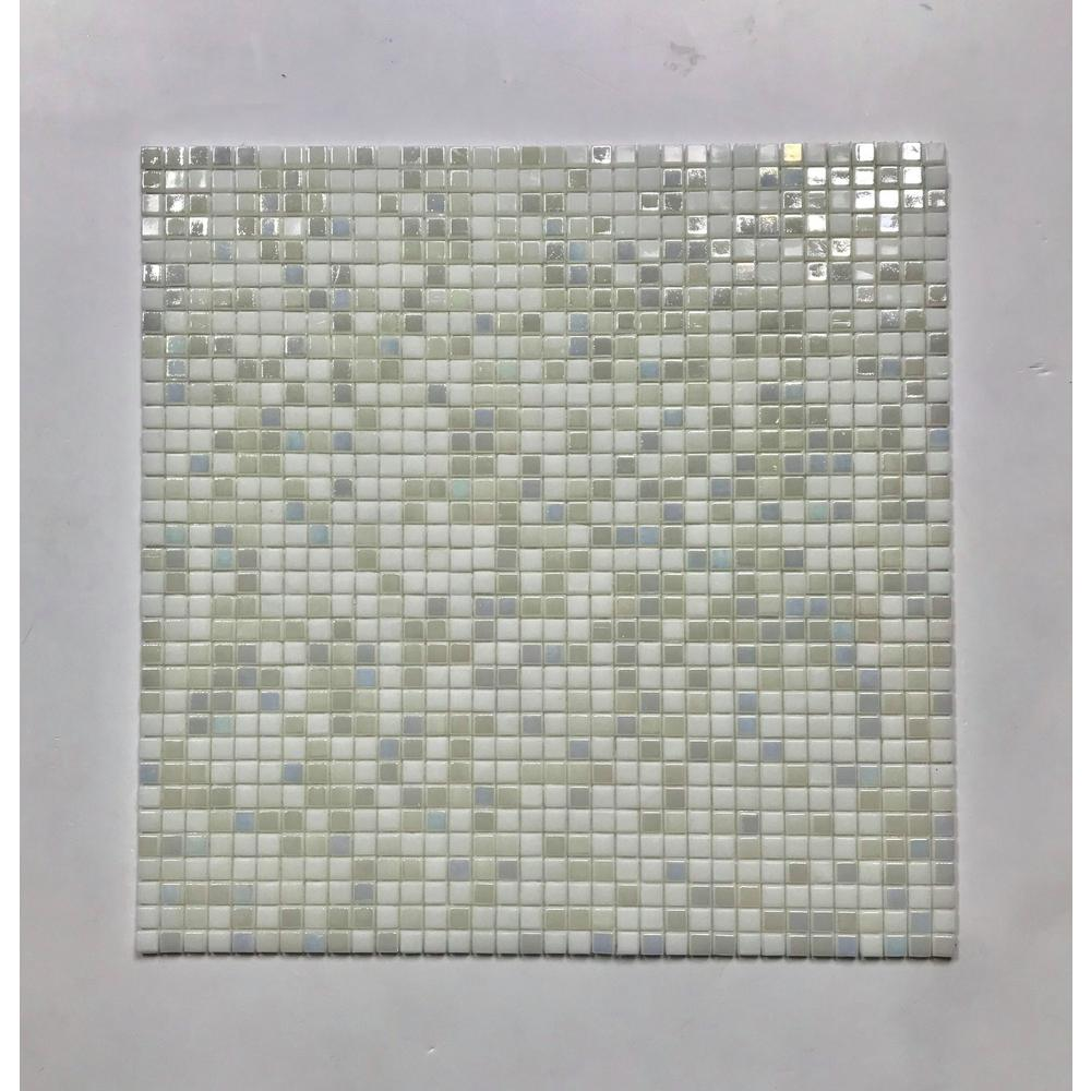- ABOLOS Galaxy Shooting Star White Square Mosaic 0.3125 In. X