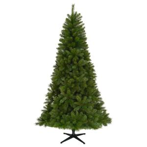 Deals on Home Accents Holiday 7.5 ft Unlit Wesley Spruce Christmas Tree