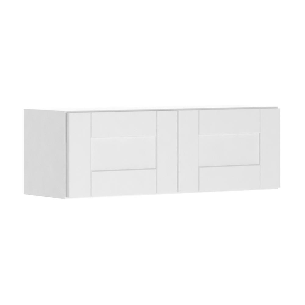 Princeton Shaker Assembled 36x12x12 in. Wall Bridge Cabinet in Warm White