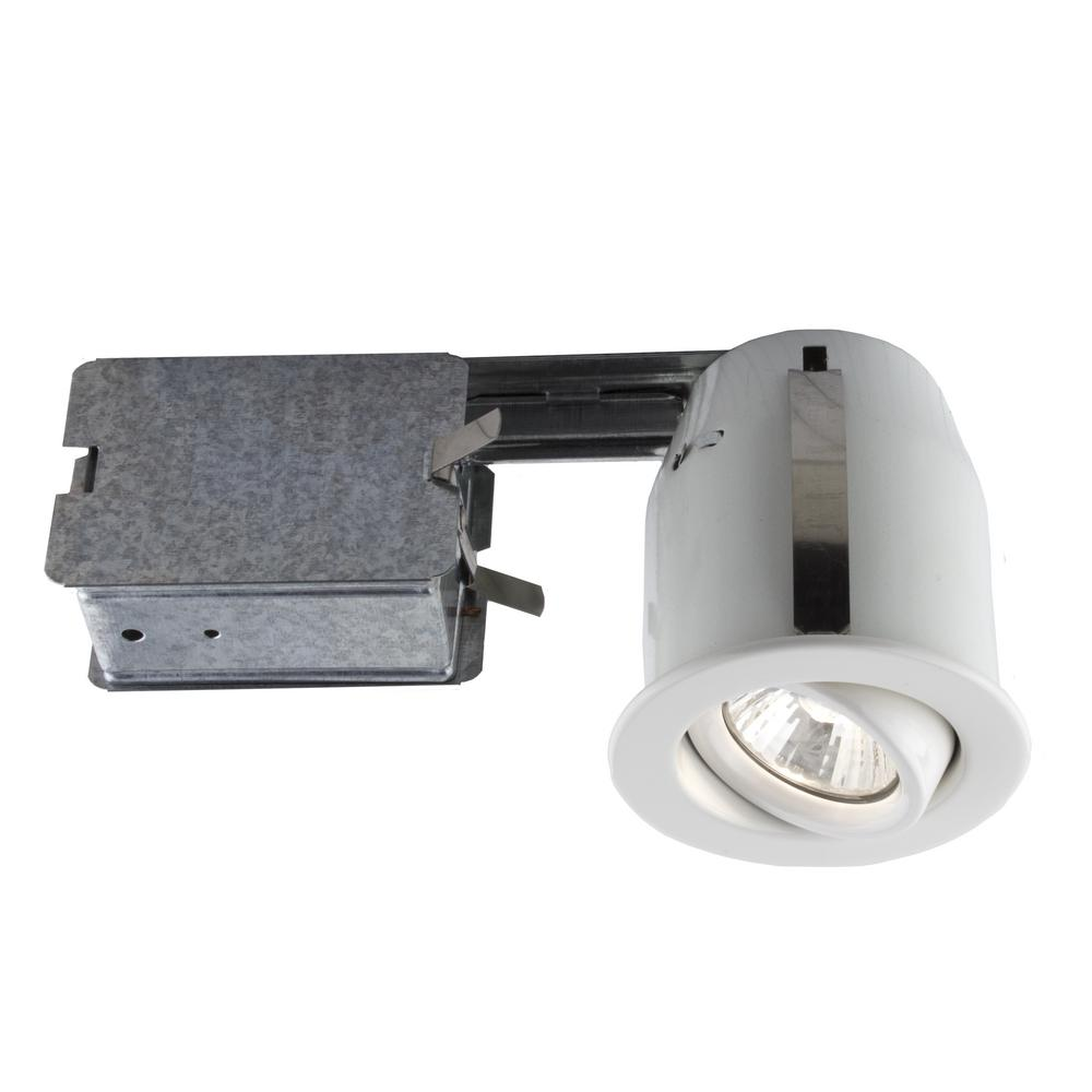 Captivating 303 Series 3 In. White Halogen Recessed Lighting Kit