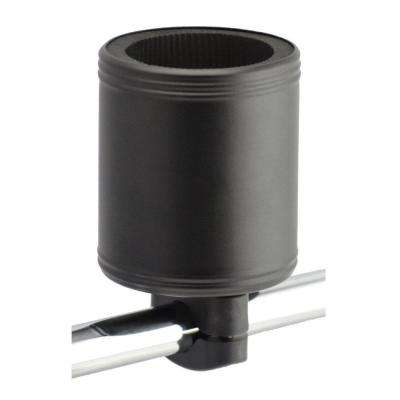 Kroozercups Drink Holder 2.0 Fits Bars from 5/8 in. to 1-3/8 in. with New Super-Tight Grip in Flat Black